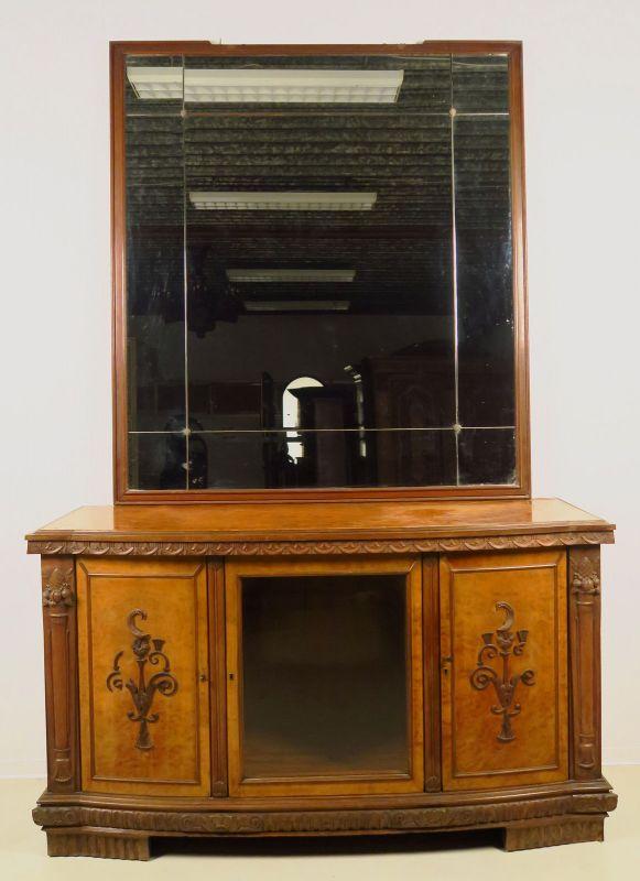 Zwei wunderschöne Neorenaissance Buffets mit Spiegelaufsatz Antik Kolosseum 10
