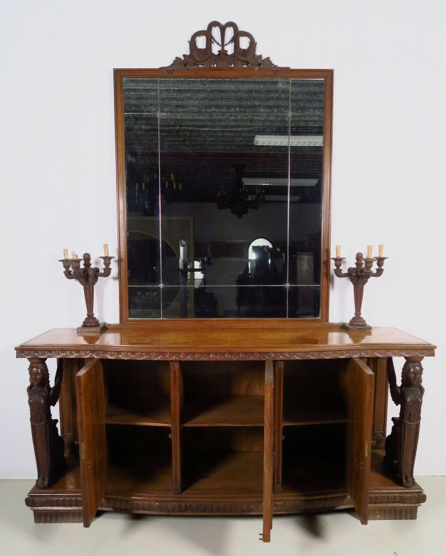 Zwei wunderschöne Neorenaissance Buffets mit Spiegelaufsatz Antik Kolosseum 2