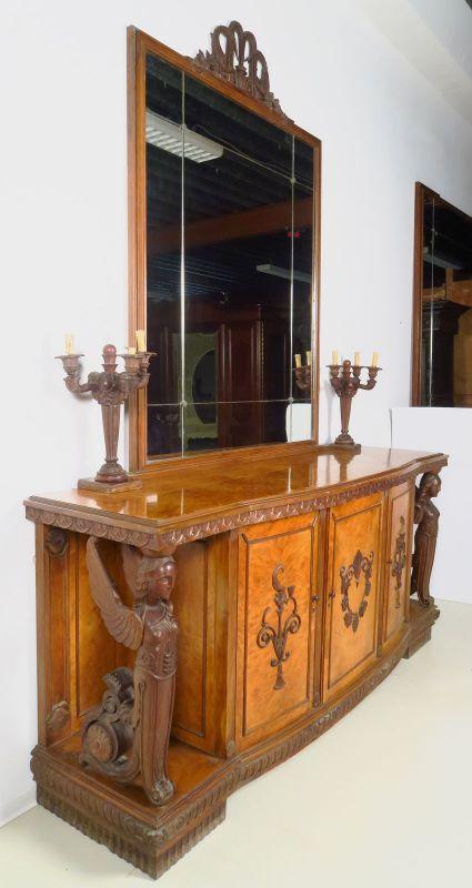 Zwei wunderschöne Neorenaissance Buffets mit Spiegelaufsatz Antik Kolosseum 3