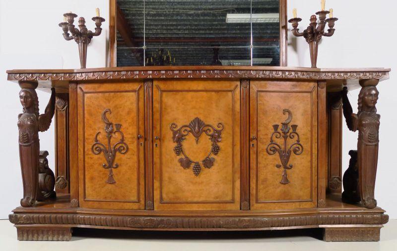 Zwei wunderschöne Neorenaissance Buffets mit Spiegelaufsatz Antik Kolosseum 4