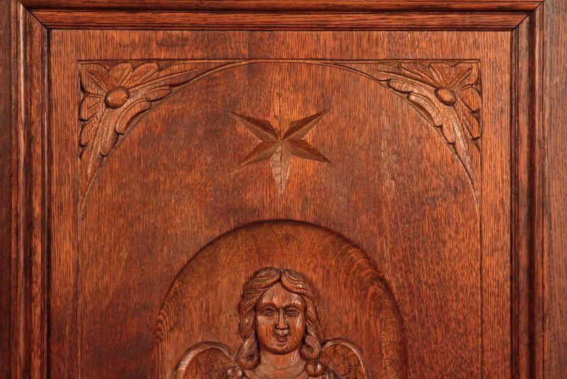 Schöner eintüriger Gründerzeit Besenschrank mit Engelsputte Antik Kolosseum 5