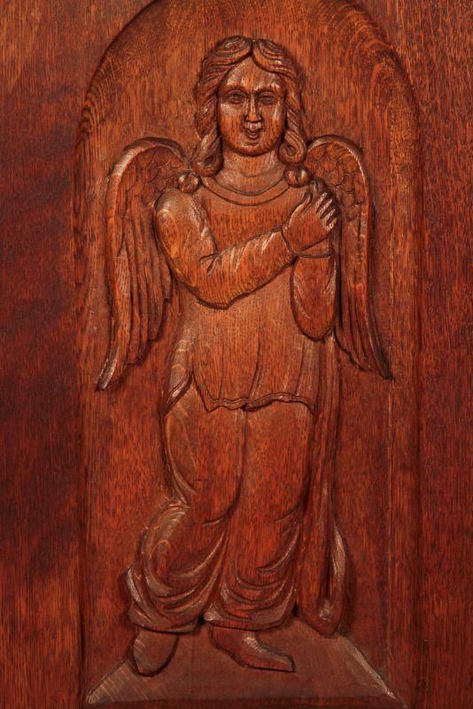 Schöner eintüriger Gründerzeit Besenschrank mit Engelsputte Antik Kolosseum 6