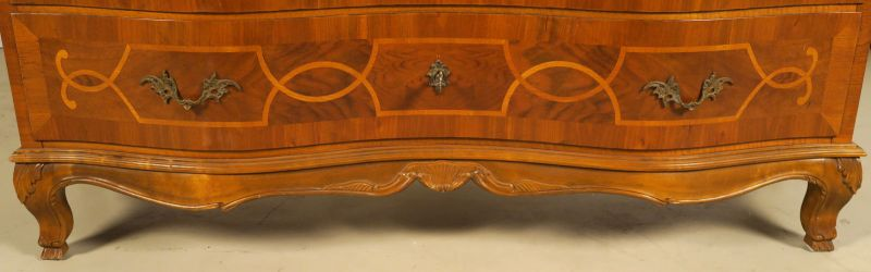 Heller Neobarock Stil Kabinettschrank aus Nussbaum Antik Kolosseum 6
