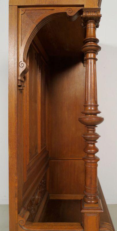 Gründerzeit Garderobenschrank mit Bank und kleiner Vitrine Antik Kolosseum 11