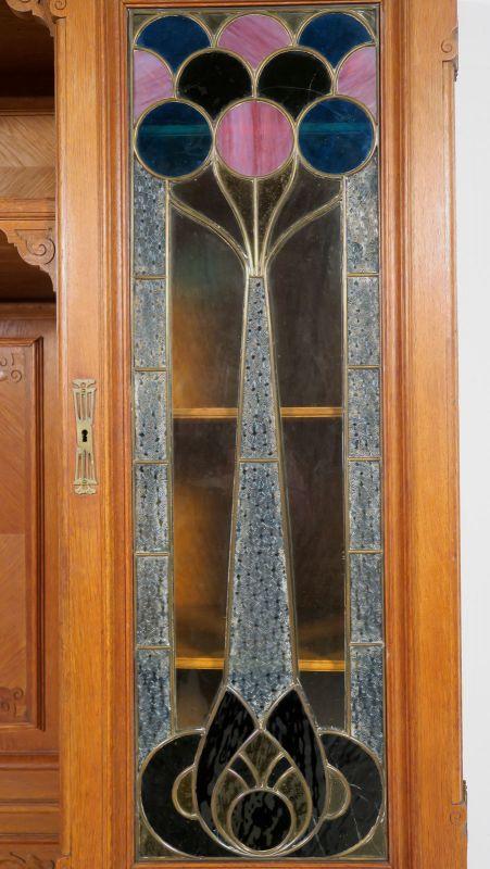 Gründerzeit Garderobenschrank mit Bank und kleiner Vitrine Antik Kolosseum 5