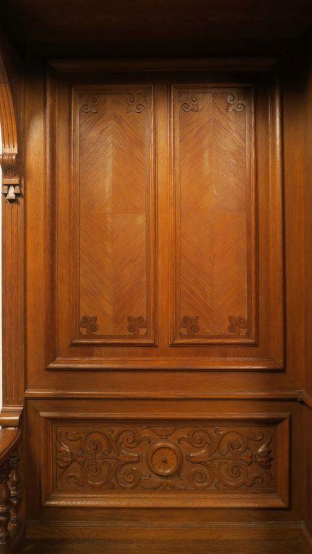 Gründerzeit Garderobenschrank mit Bank und kleiner Vitrine Antik Kolosseum 9