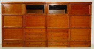 Vier Bücherschränke mit Sekretär und Bar im Globe Wernicke Stil Antik Kolosseum