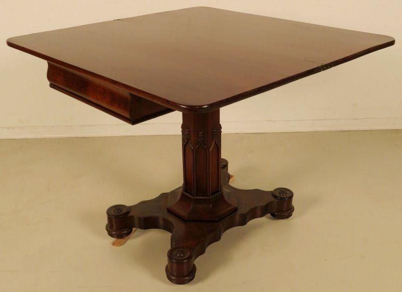 Eleganter Konsoltisch / Spieltisch aus der Biedermeier - Epoche Antik Kolosseum