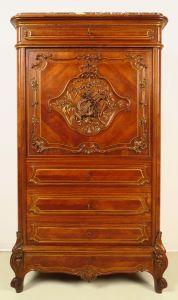 Pfeifferl Barock Sekretär mit fantastischen Schnitzereien Antik Kolosseum