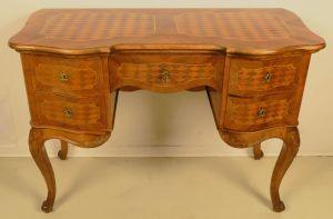 Elegante Neobarock Schreibtisch mit Auszugsplatte Antik Kolosseum