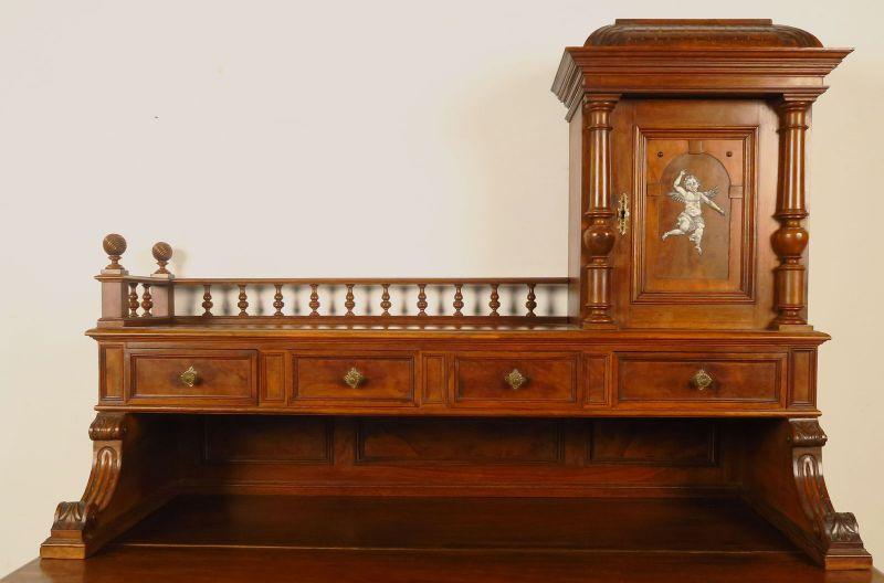 Schreibtisch mit aufsatz antik for Grunderzeit mobel