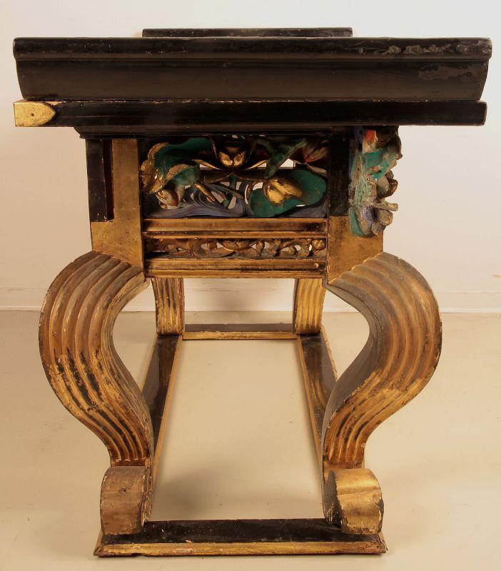Vergoldete chinesische Konsole gefertigt um 1880 Antik Kolosseum 2