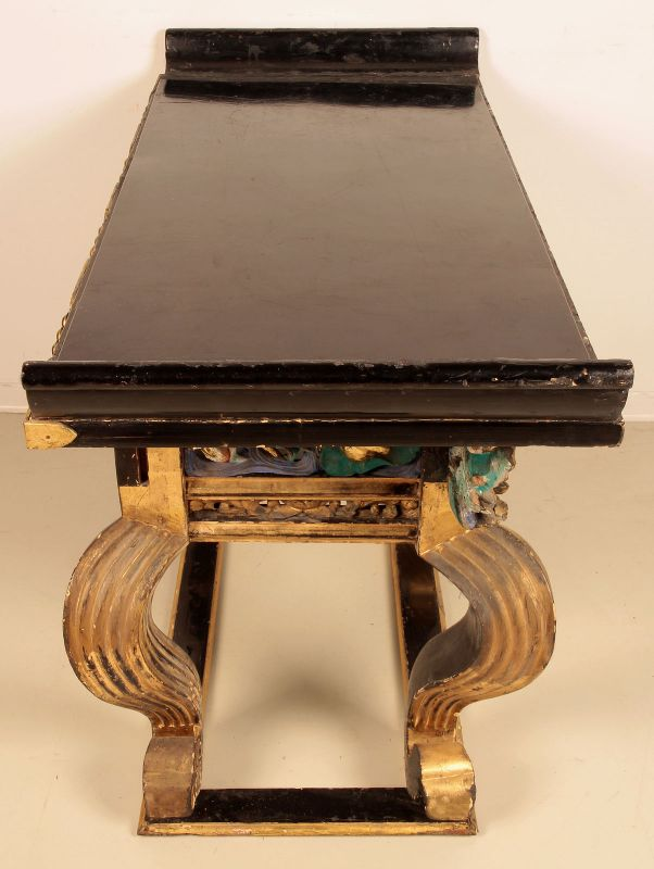 Vergoldete chinesische Konsole gefertigt um 1880 Antik Kolosseum 3