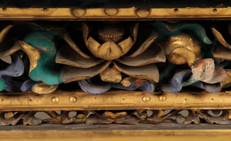 Vergoldete chinesische Konsole gefertigt um 1880 Antik Kolosseum 5