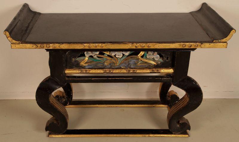 Vergoldete chinesische Konsole gefertigt um 1880 Antik Kolosseum 7