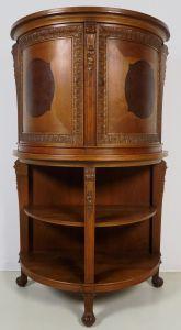 Seltener Kabinettschrank in Trommelform mit Tatzenfüßen Antik Kolosseum