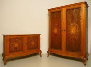 Chippendale Wäscheschrank und Kommode gefertigt um 1930 Antik Kolosseum