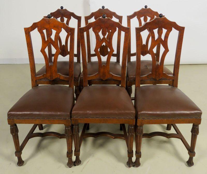 Faszinierende siebenteilige Art Deco Sitzgruppe aus Mahagoni Antik Kolosseum 7