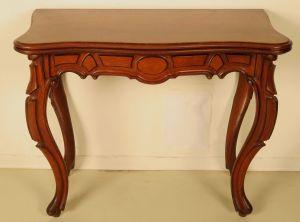 Zauberhafter Mahagoni Louis Philippe Klapptisch / Spieltisch Antik Kolosseum