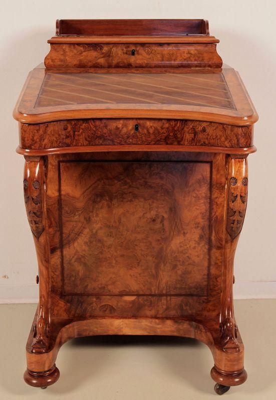 Schöner Englischer Davenport Schreibtisch aus Nussbaum Antik Kolosseum