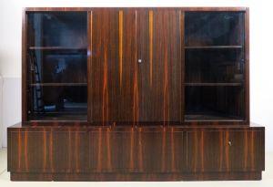 Repräsentativer Bauhaus / Art Deco Bücherschrank aus Palisander Antik Kolosseum