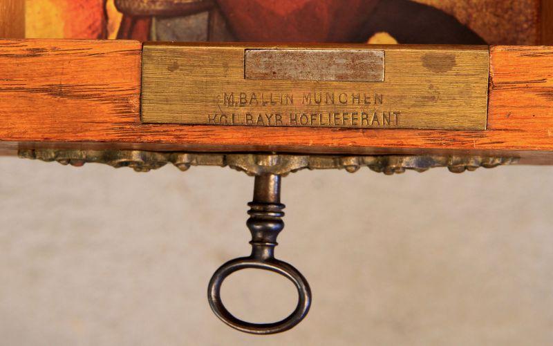 Gründerzeit Nähkästchen gefertigt um 1900 aus Eichenholz Antik Kolosseum 5