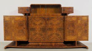Mondänes Sideboard mit Aufsatz aus dem stilvollen Art Deco Antik Kolosseum
