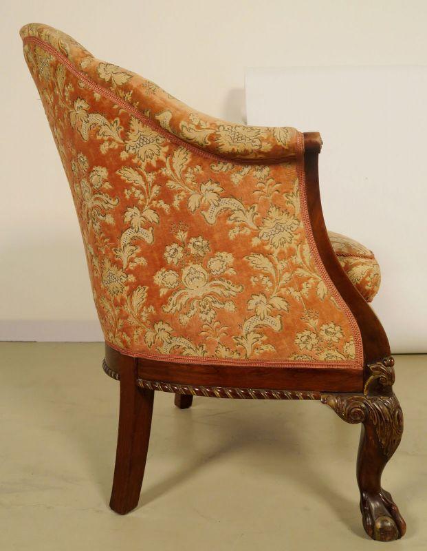 Neorenaissonce Sitzgruppe mit Sofa und zwei Sesseln Antik Kolosseum 10