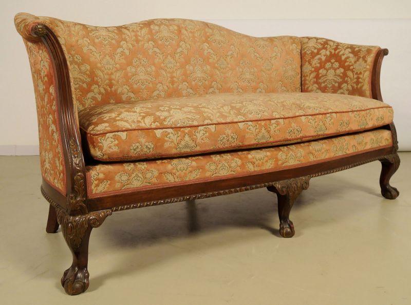 Neorenaissonce Sitzgruppe mit Sofa und zwei Sesseln Antik Kolosseum 3