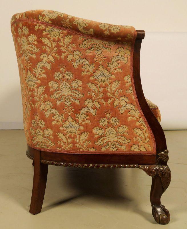 Neorenaissonce Sitzgruppe mit Sofa und zwei Sesseln Antik Kolosseum 5