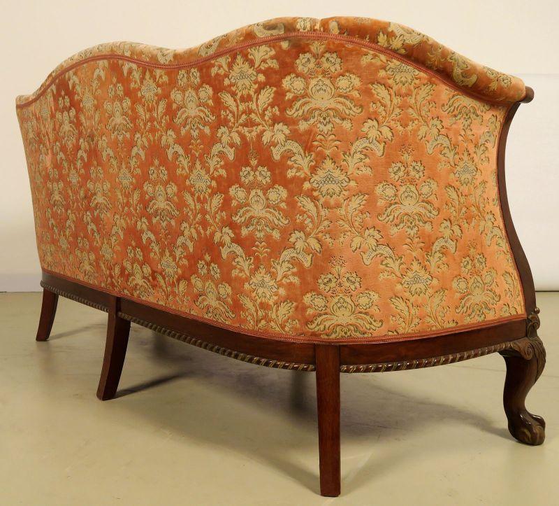 Neorenaissonce Sitzgruppe mit Sofa und zwei Sesseln Antik Kolosseum 6