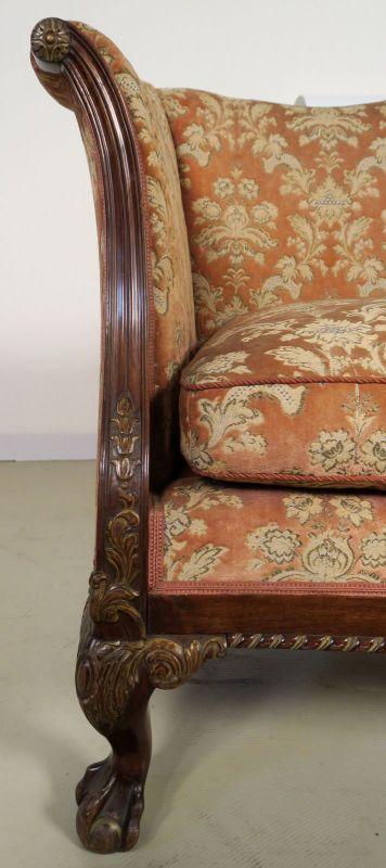 Neorenaissonce Sitzgruppe mit Sofa und zwei Sesseln Antik Kolosseum 7