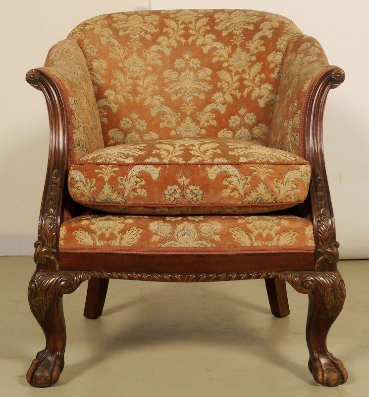 Neorenaissonce Sitzgruppe mit Sofa und zwei Sesseln Antik Kolosseum 8