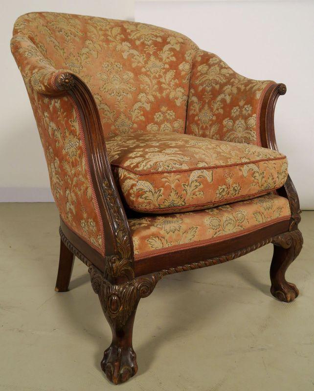 Neorenaissonce Sitzgruppe mit Sofa und zwei Sesseln Antik Kolosseum 9