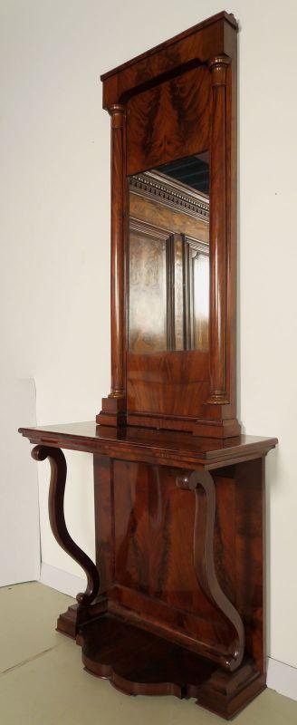 Schöne original Biedermeier Spiegel - Konsole aus Mahagoni Antik Kolosseum 2