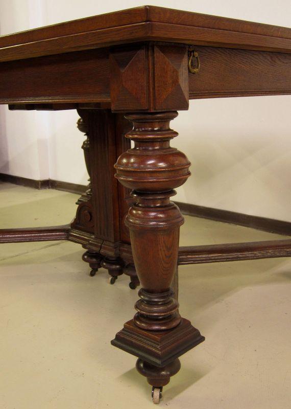 Schöner Auszug- Tisch aus der Gründerzeit mit Einlegeböden Antik Kolosseum 10