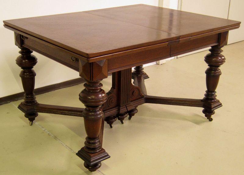 Schöner Auszug- Tisch aus der Gründerzeit mit Einlegeböden Antik Kolosseum 3
