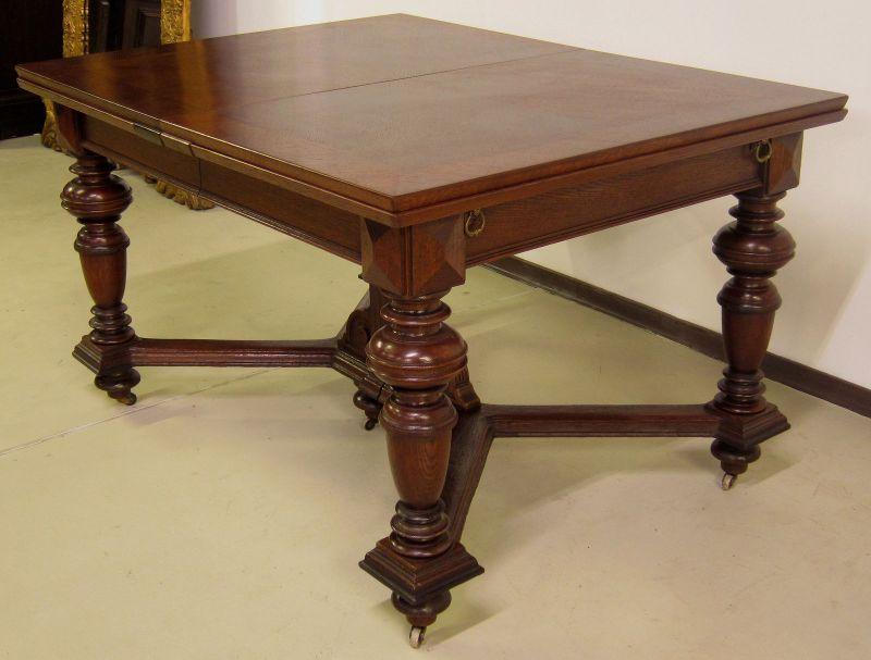 Schöner Auszug- Tisch aus der Gründerzeit mit Einlegeböden Antik Kolosseum 4