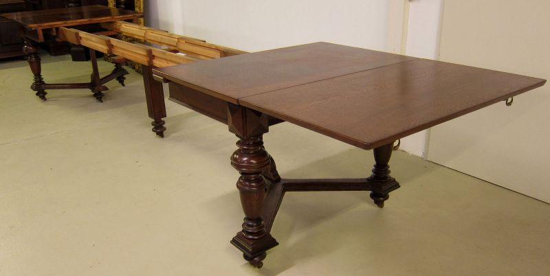 Schöner Auszug- Tisch aus der Gründerzeit mit Einlegeböden Antik Kolosseum 5