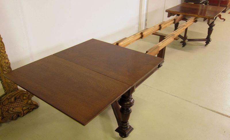 Schöner Auszug- Tisch aus der Gründerzeit mit Einlegeböden Antik Kolosseum 6