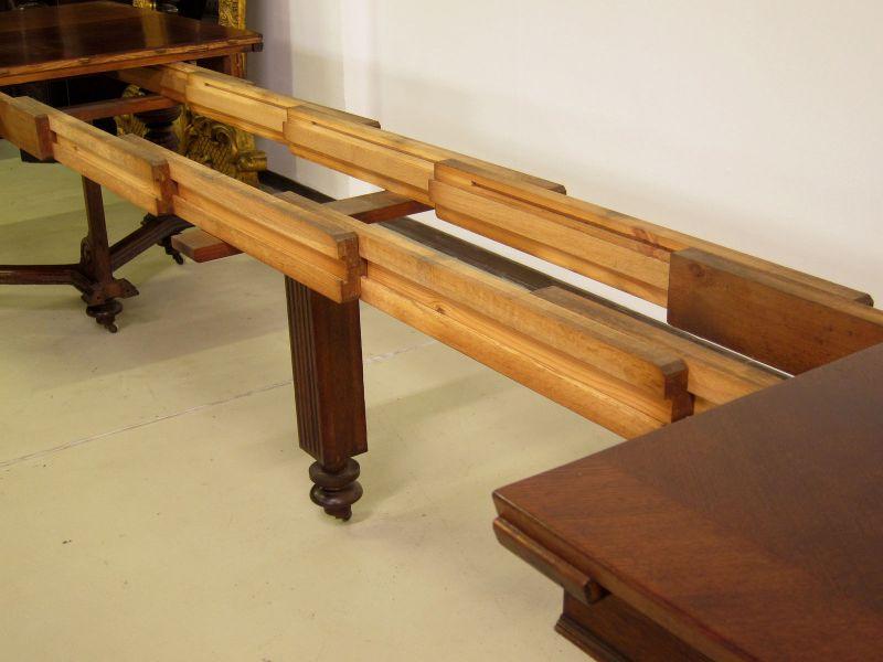 Schöner Auszug- Tisch aus der Gründerzeit mit Einlegeböden Antik Kolosseum 7
