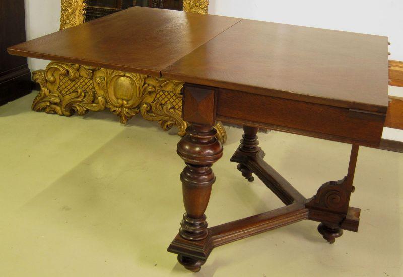 Schöner Auszug- Tisch aus der Gründerzeit mit Einlegeböden Antik Kolosseum 8