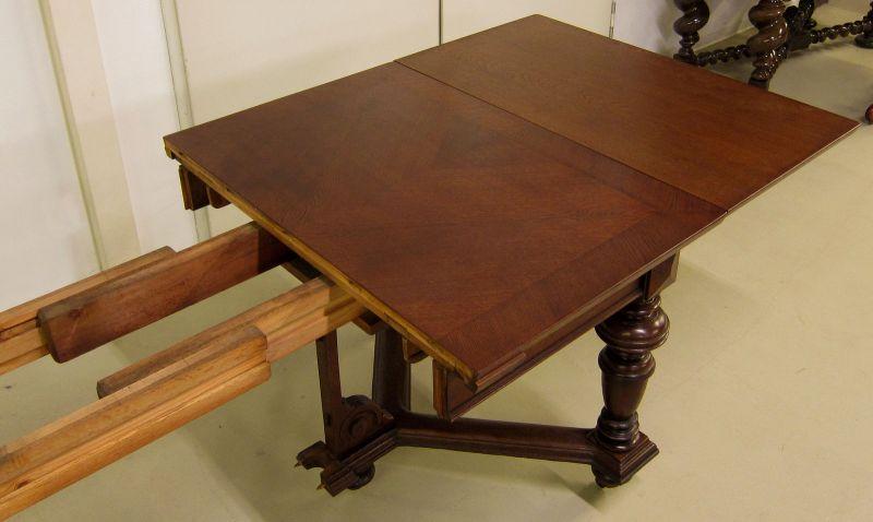 Schöner Auszug- Tisch aus der Gründerzeit mit Einlegeböden Antik Kolosseum 9