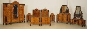 Interessantes 7-teiliges Art Deco Schlafzimmer aus Nussbaum Antik Kolosseum
