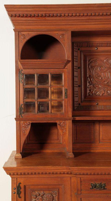 Neogotik Buffet mit wunderschönen Beschlägen Antik Kolosseum 4