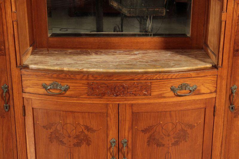 Zwei schöne Jugendstil Buffets mit wunderschönen Glasarbeiten Antik Kolosseum 10