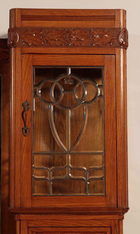 Zwei schöne Jugendstil Buffets mit wunderschönen Glasarbeiten Antik Kolosseum 6