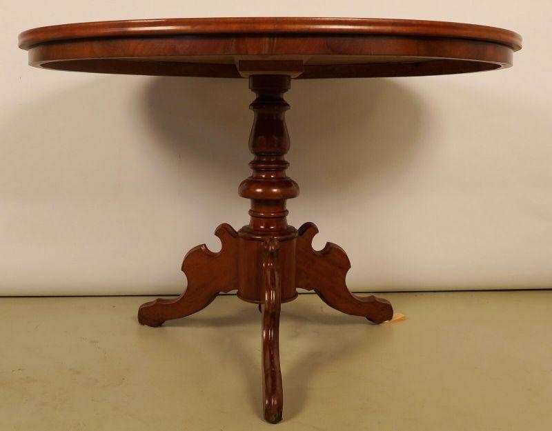 Eleganter Louis Philippe Esstisch / Salontisch aus Mahagoni Antik Kolosseum 1