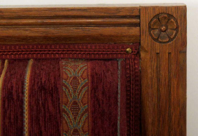 Elegantes Gründerzeit Sofa / Couch aus Nussbaum Antik Kolosseum 3