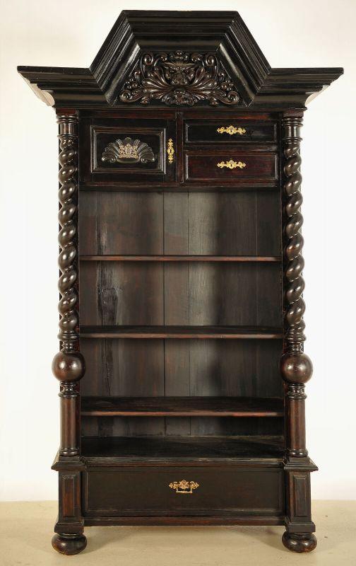 Elegantes Regal aus dem Danziger Barock mit Zopfsäulen Antik Kolosseum